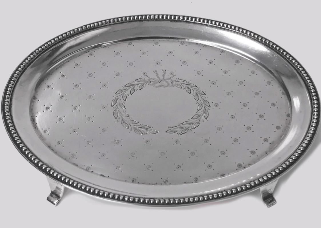 American Sterling Silver Salver Tray by Caldwell, C.1890