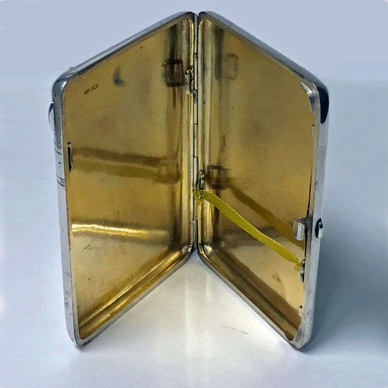 Russian Silver cigarette case, 1908-1926, Feodosii Ivanovich Pekin, Moscow