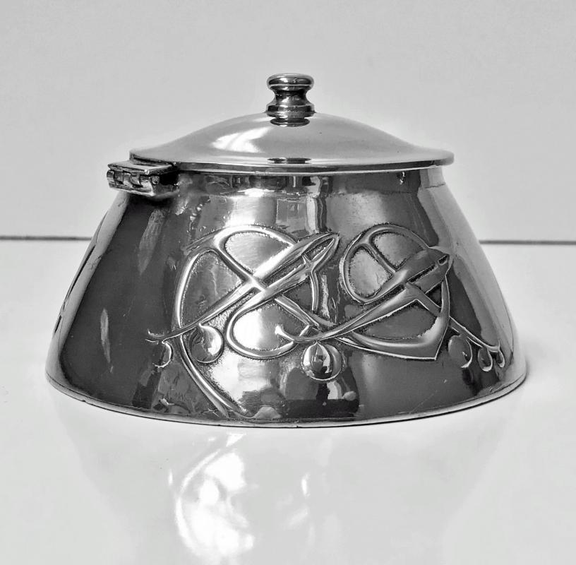 Archibald Knox for Liberty & Co Pewter Inkwell, C.1903.