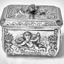 Antique Silver small casket Box, Germany C.1900.