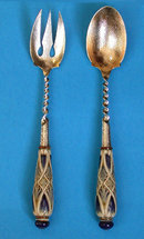 Geo C. Shreve early mark American Sterling  Servers,  C.1880