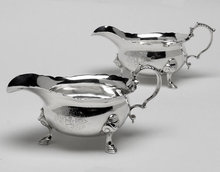 Georgian Silver Sauceboats, London 1739, Thomas Farren