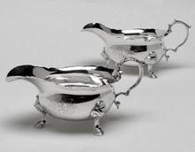 Georgian Silver Sauceboats, London 1739, Thomas Farren