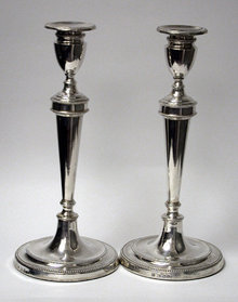 Georgian Silver Candlesticks, 1784 Geo Ashworth Co
