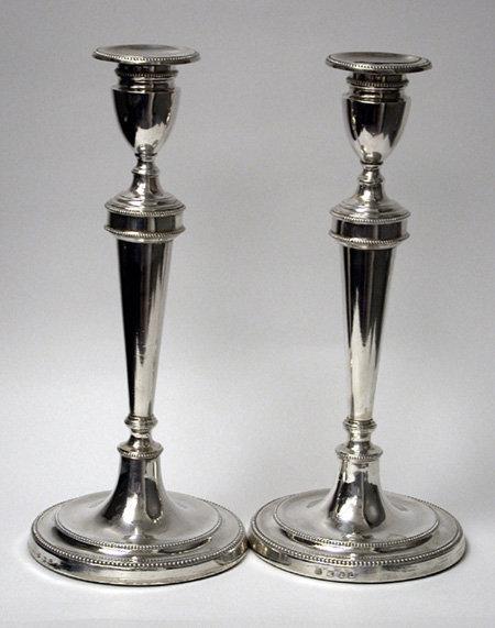 Georgian Silver Candlesticks, 1784 Geo Ashworth Co