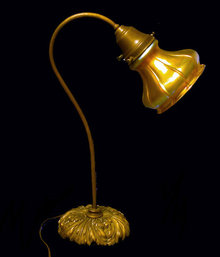 Quezal Glass Desk Lamp, C.1910