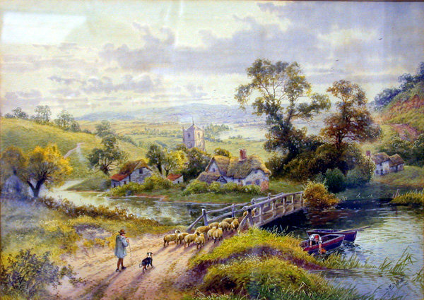 A D Bell R.B.A., landscape, `In Sussex' signed 'A. D. Bell' and dated 1926, watercolour, 26 x 36 cm. Gilded frame.