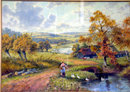 A D Bell R.B.A., landscape, `A Stream in Monmouthshire' signed 'A. D. Bell' and dated 1926, watercolour, 26 x 36 cm. Gilded frame.