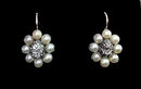 Antique Diamond Pearl Earrings, England C.1840