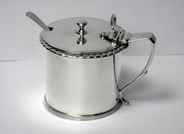 Bateman Ball Mustard Pot, London 1842
