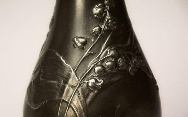 Art Nouveau  Kayserzinn Vase, Germany C.1895