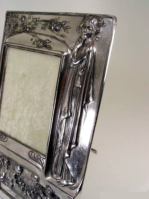 Art Nouveau  Silver Plate Photograph Frame, Germany C.1900