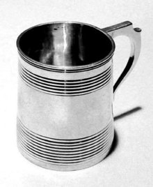 Georgian English Silver Mug London 1820