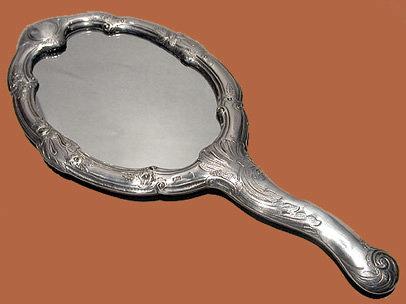 Michelsen Danish Silver  Mirror C. 1900.
