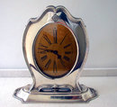 American Art Deco Sterling Clock, Reed & Barton, C.1920