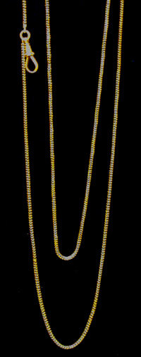 Antique Gold Muff chain, England C. 1880.