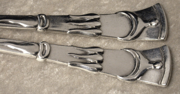 Art Nouveau Danish Silver  Servers 1909, P. Hertz
