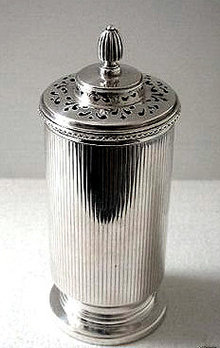 English Art Deco Silver Sugar Castor