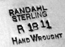 Randahl hammered Sterling Bowl  Chicago C.1930.