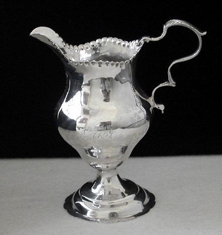 Georgian Silver Cream Jug, London 1778 George Smith