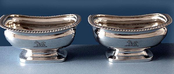Georgian Silver Salts, London 1813 Samuel Hennell