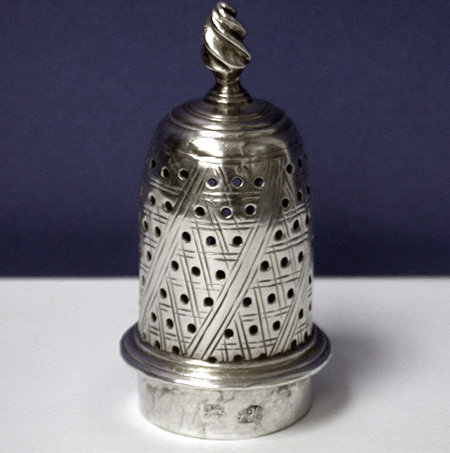 Hester Bateman Georgian Silver Caster, London 1782