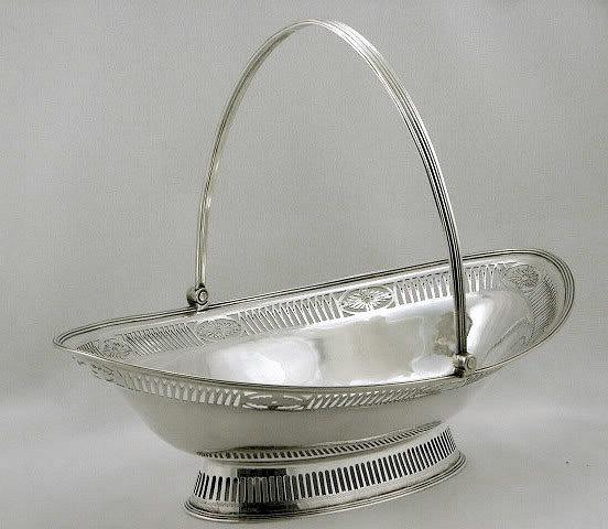 Georgian Silver  Cake Basket, London 1787  William Plummer
