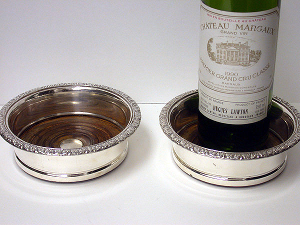Old Sheffield Plate Wine Coasters, English, C.1810