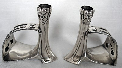 WMF Miniature Candlesticks and Napkin Holders, Germany C.1906.