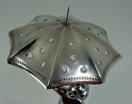 WMF Toothpick holder Cherub Umbrella , Germany C.1910
