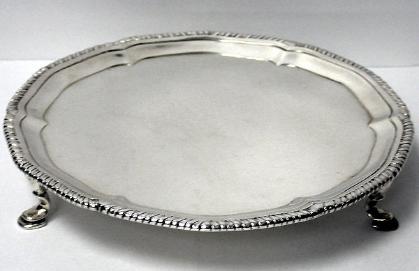 Georgian Silver Salver, London 1775, John Carter