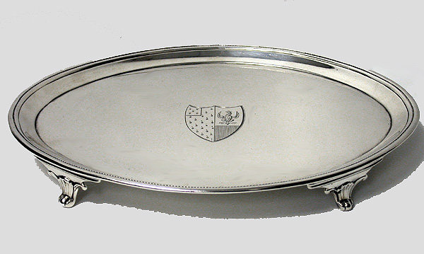 John Schofield Georgian Silver Salver. London 1790