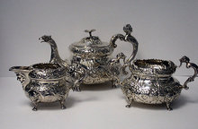 Irish Georgian Silver Tea Set Dublin 1819-20 William Nowlan