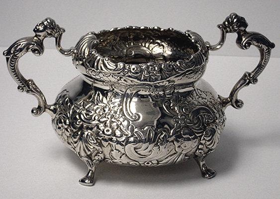Irish Georgian Silver Tea Set Dublin 1819-20 William Nowlan