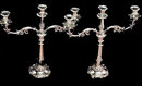 Old Sheffield Plate Candelabra, English C.1830 Waterhouse, Hatfield & Co