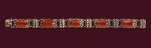 Theodor Fahrner Pforzheim Art Deco Carnelian and Silver Bracelet C.1925