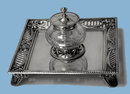 Antique Silver Inkstand, London 1906 by Garrard & Co