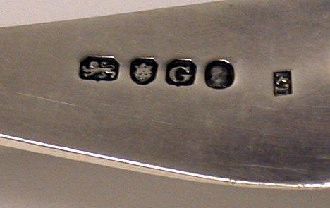 Georgian  Silver double lift Fish Slice London 1802