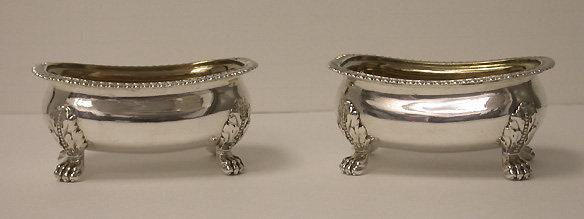 Georgian Silver Salts, London 1813, William Kingdon