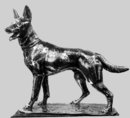 WMF Fritz Diller (1875-1945) Silver plate Alsatian German shepherd Dog