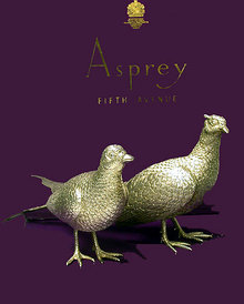 Pair of Asprey & Co heavy Silver Table Pheasants, London 1989.