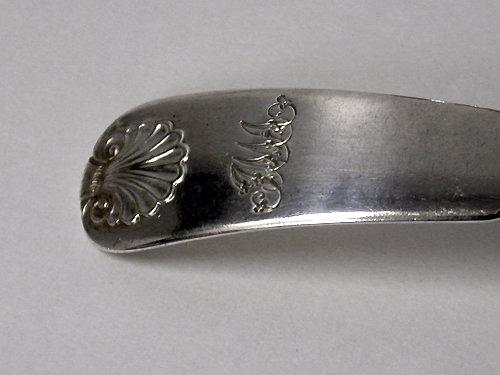 Pair of Scottish Georgian Silver Fiddle Shell Ladles, Edinburgh 1821
