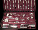 Antique 110 piece English Onslow silver plate Flatware Suite, Walker & Hall C.1900