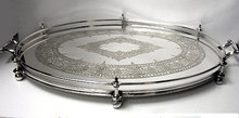 Fine quality James Dixon English Silver Plate Gallery Tray, England C.1890
