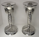 Pair of large Jensen Danish style Sterling Silver Candlesticks, C.1960