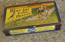 BLUE=JAY CORN PLASTERS BOX-GRAPHIC