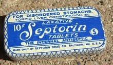 SEPTORIN LAXATIVE TABLETS TIN