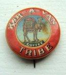 KAR-A-VAN COFFEE CELLULOID PINBACK-CAMEL IMAGE