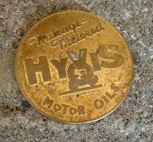 HYVIS MOTOR OILS BRASS TOKEN