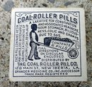 COAL-ROLLER PILLS BOX/CONTENTS-BLACK BOY IMAGE-LAXATIVE/MEDICINAL